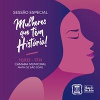 Em Sessão Especial Câmara de Vereadores vai homenagear mulheres de Mata de São Joao